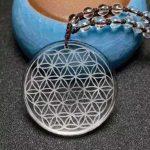 35mm High Quality Natural Stone Quartz Crystal Pendant Flower Of Life Pendulum Pendants Chakra Suspension Healing