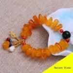 Fashion Nature Yellow Beeswax Green Jade <b>Bracelet</b> Women Gift Jewelry Single String <b>Bracelet</b> ML006
