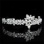 925 Sterling Silver Tiaras De Noiva <b>Wedding</b> Hair Accessories <b>Jewelry</b> Cubic Zirconia Crown Hair Clips For Women Vintage NF037