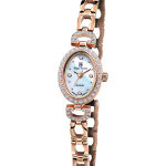 Royal Crown Jewelry Watch 6537S Italy brand Diamond Japan MIYOTA Rose gold <b>Silver</b> <b>bracelet</b> 16*21mm Claw set Soviet drill