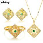 MoBuy Natural Gemstone Emerald 3pcs <b>Jewelry</b> Sets 100% 925 <b>Sterling</b> <b>Silver</b> Vintage Style Fine <b>Jewelry</b> For Women Wedding V029ENR