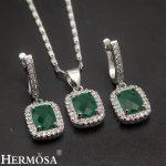 Classic Gift Grace Women <b>Jewelry</b> Sets 925 Sterling <b>Silver</b> Necklace Earrings Set Fashion Hermosa