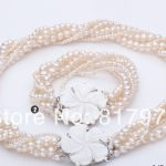 Classic Flower Natural Pearl AAA highlight pearl <b>Handmade</b> Multilayer Necklaces Bracelet Set Freshwater Pearl women <b>Jewelry</b>