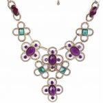 2014 Fashion <b>Jewelry</b> New Style <b>Antique</b> Style Alloy Hollow Out Colorful Big Rhinestones Bib Necklace For Women