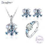 Beagloer 925 Sterling <b>Silver</b> Jewelry Set For Women Authentic Original Fine Jewelry Fashion Gift PSST0009-B