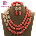 2017 Natural Real Coral Beads <b>Jewelry</b> Set Nigerian African Wedding Christmas Gift Beads <b>Necklace</b> <b>Jewelry</b> Set Free ShippingABH136
