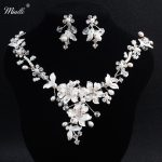 Miallo luxury Silver Rhinestone Bridal <b>Jewelry</b> Sets Necklace Earrings <b>Handmade</b> Pearl <b>Jewelry</b> Set Wedding Bride Designer NS-J5890