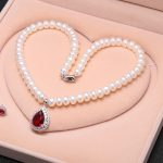 Natural Freshwater Pearls 8mm Necklace chain Women Pearls Necklace