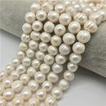 """Big Hole 11-12MM Potato Shape 14 """" Cultured Natural Pearls Freshwater Pearls Necklace for <b>Jewelry</b> <b>Making</b> Diy"""