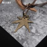 <b>Antique</b> Bronze Charm leaf Pendant Black Wax cotton cord 80cm unique lock design Pendant Necklace fashion <b>Jewelry</b> For Men Women