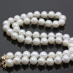 Natural White Akoya Cultivation cute Pearl 7-8mm unique round beads charming Necklace <b>making</b> 18 inch GE4509