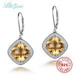 L&zuan 8.61ct Natural Citrine Drop Earrings Real 925 <b>Sterling</b> <b>Silver</b> <b>Jewelry</b> Luxury Earring For Women mystic topaz earrings