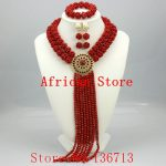 Amazing Orange African Beads <b>Jewelry</b> Set Nigerian Beads <b>Necklace</b> Dubai <b>Jewelry</b> Sets 2015 New Free Shipping BS201-2