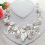 Rare Natural 35MM White Keshi Pearl <b>Necklace</b> free shipment