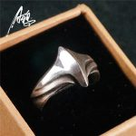 <b>Handmade</b> Simple Design Ring 925 Silver Unisex <b>Jewelry</b> Wings of Flight Shape for Women Men New Year Gift