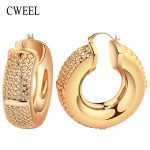 CWEEL Women Big Hoop Earrings for Bridal <b>Fashion</b> Wedding Classic Trendy Casual Bohemian Party Vintage Arab Nigerian <b>Jewelry</b>