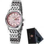 WWOOR Brand Luxury Waterproof Watch Women Quartz Watches Ladies <b>Silver</b> <b>Bracelet</b> Women Fashion Dress Wristwatch Montre Femme