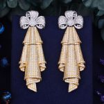 GODKI 71mm Luxury Bowknot Trendy Cubic Zirconia Naija <b>Wedding</b> Party Earring Fashion <b>Jewelry</b> for Women