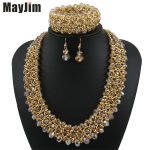 Statement necklace 2017 fashion <b>jewelry</b> sets Handmade beads chain crystal dubai <b>jewelry</b> sets Vintage beads Bijoux <b>Accessories</b>