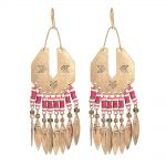 Bohemia Multicolor Beads Handcraft Hanging Earrings For Women <b>Antique</b> Silver Color Geometric Tassel Earrings Ethnic <b>Jewelry</b>