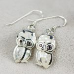 925 <b>silver</b> <b>jewelry</b> wholesale cartoon cute Owl Earrings <b>Sterling</b> <b>Silver</b> Earrings shell exquisite craft female models