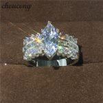 choucong <b>Handmade</b> <b>Jewelry</b> Marquise Cut 5ct Diamonique Cz 925 sterling Silver Engagement Wedding Band Ring For Women men Gift