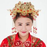 Coronet costume hair <b>jewelry</b> retro Chinese cheongsam head flow comb hair decorated retro Coronet