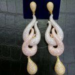 GODKI Luxury 3 Tone Colors Water Drop Trendy Cubic Zirconia Naija <b>Wedding</b> Party Earring Fashion <b>Jewelry</b> for Women