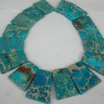 20pcs 30*40mm Aqua Imperial Slice Beads, Top Drilled Slab Shape Gems Stone Beaded Accessories <b>Jewelry</b> <b>Making</b>