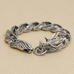 S925 <b>Sterling</b> <b>Silver</b> Bracelet Personal Punk Ethnic Dragon Bracelet & Bangle <b>Jewelry</b>