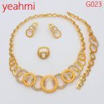 2018 New <b>Handmade</b> Dubai Gold <b>Jewelry</b> Sets Fashion Big Nigerian Wedding African Beads <b>Jewelry</b> Sets Costume Dubai For Women G023