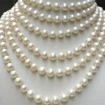 Fashion <b>jewelry</b> <b>making</b> long chain necklace 8-9mm natural white freshwater cultured round pearl beads party gifts 100inch MY4530
