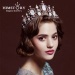 HIMSTORY Luxury Vintage Gun Black Tiara Crown Queen European <b>Wedding</b> Tiaras Bronze Large Crowns Cosplay Birthday Hair <b>Jewelry</b>