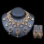 LAN PALACE fashion dubai gold color <b>jewelry</b> <b>necklace</b> and earrings ensemble bijoux femme gold set india <b>jewelry</b> free shipping