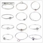 Memnon 925 sterling <b>silver</b> fine jewelry many kinds of <b>Bracelets</b> for women fit charms beads DIY <b>silver</b> snake chain <b>bracelet</b> YL001