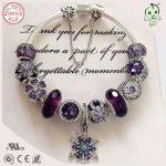Best Quality Luxuxious And Nice <b>Silver</b> Jewelry Gift Noble Purple <b>Silver</b> Charm Series 925 Real <b>Silver</b> Snowflake Charms <b>Bracelet</b>