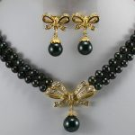 Prett Lovely Women's Wedding 2 kinds! charm 2 rows 7-8mm pink pearl necklace+ flower pendant earrings silver-<b>jewelry</b>