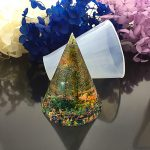 5pcs/set 20-60mm 3D Cone Cabochon Silicon Mold Mould For Epoxy Resin <b>Jewelry</b> <b>Making</b>