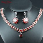 Dandy Will Dubai <b>Silver</b> Color Jewellery Luxury Cubic Zirconia <b>Necklace</b> Earrings Wedding Party Jewelry Set For Women