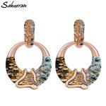 Sehuoran Big Earrings For Women Round Pendients New <b>Image</b> Match Snake Boho Long Earrings Oorbellen Fashion <b>Jewelry</b> 2018 New EAR