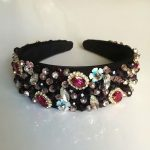 Baroque Sequins Flower Crown Pearl Headband Wedding <b>Jewelry</b> Hair Accessories <b>Handmade</b> Full Crystal Bead Dream bijoux cheveux