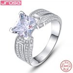 Jrose New 100% 925 Sterling Silver <b>Wedding</b> Rings Genuine <b>Jewelry</b> Real Solid Silver Ring 3.5Ct White Gem For Women With box