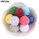 12MM-20MM Colorful Beads Acrylic Beads With Glitter Round Beads For DIY <b>Handmade</b> Necklace/Accessories Making/<b>Jewelry</b> Findings