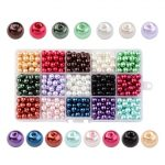 Mixed Color Round Pearlized Glass Pearl Beads for <b>Jewelry</b> <b>Making</b> Diy 4mm 6mm 8mm 10mm,15 Colors/box