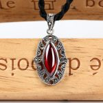 Hollow 925 Silver Pendant Red Cubic Zircon Stone MARCASITE 100% Pure S925 Solid Thai Silver Pendants for Women <b>Jewelry</b> <b>Making</b>
