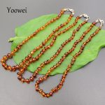 Yoowei Baby Amber Teething Necklace for Gift Baltic Amber Beads S925 Silver <b>Handmade</b> Original Natural Amber <b>Jewelry</b> Wholesale