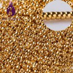 Taidian New Arrival Gold color Japanese Glass seed beads for <b>Native</b> <b>American</b> Beaded Earring <b>jewelry</b> making 11/0 2.0MM 5 grams