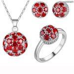 Luckyshine Unique Fashion <b>Handmade</b> <b>jewelry</b> Red Fire Cubic Zirconia Crystal Earrings Rings Pendants <b>Jewelry</b> Sets