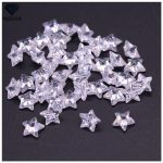 MRHUANG 50pcs/pack Plum/STAR Zircon 11*11MM AAA Grade STAR Shape Cubic Zirconia DIY <b>Jewelry</b> Findings <b>Supplies</b> Free Shipping