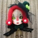 <b>Handmade</b> Clay Mini Doll OOAK Brooch Vintage Felt Dolls Badge Unique Dolls Brooches <b>Jewelry</b>